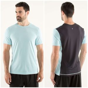 Men's Lululemon Precision Tee in Aquamarine XXL
